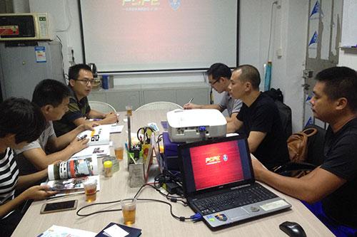 6-调研组来到平安广州志愿服务总队参观并座谈