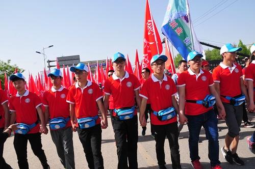 方阵志愿者维护秩序